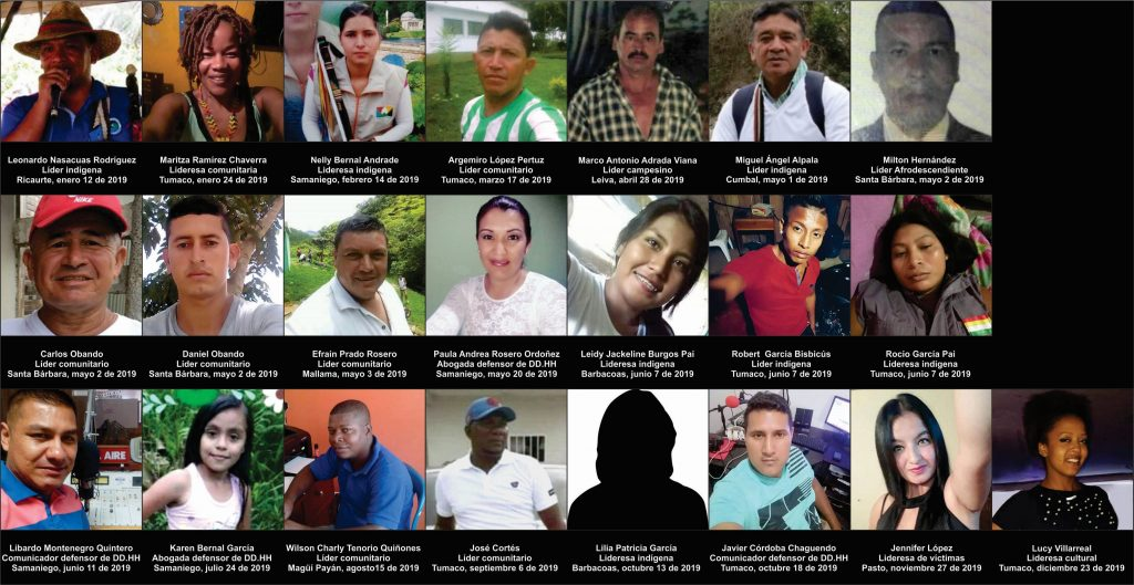 HUMAN RIGHTS DEFENDERS MILITARY OBJECTIVE OF ARMED GROUPS IN NARIÑO